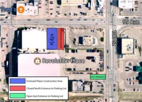 Plaza Renovation Map